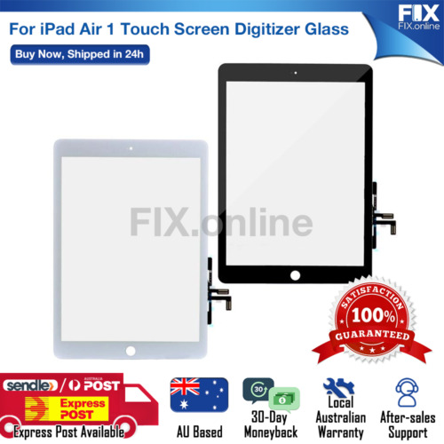 iPad Air 1 Digitizer Front Touch Screen Glass Replacement + HomeButton&Tools S