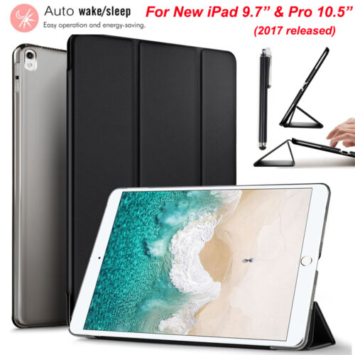 """For Apple iPad 9.7"""" & Pro 10.5"""" 2017 Luxury Leather Slim Stand Smart Case Cover"""