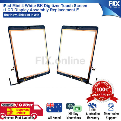 iPad Mini 4 White BK Digitizer Touch Screen+LCD Display Assembly Replacement E