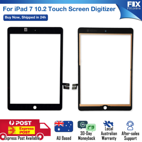 For iPad 7 10.2 White Digitizer Front Glass Touch Screen Assembly Replacement