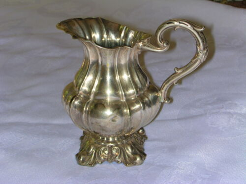 STUNNING CONTINENTAL 800 SILVER PITCHER CREAMER - GERMANY PRUSSIA