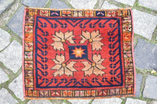 Marvelous Antique Turkish Awesome Rare Collector's Piece Anatolian Bag Face Rug