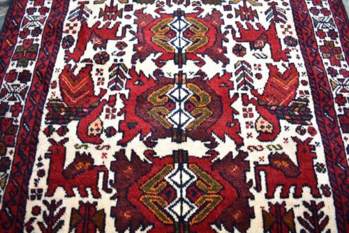 Fabulous Antique Tribal Rug 30'' x 51'' Awesome Collector's Piece Tribal  Rug