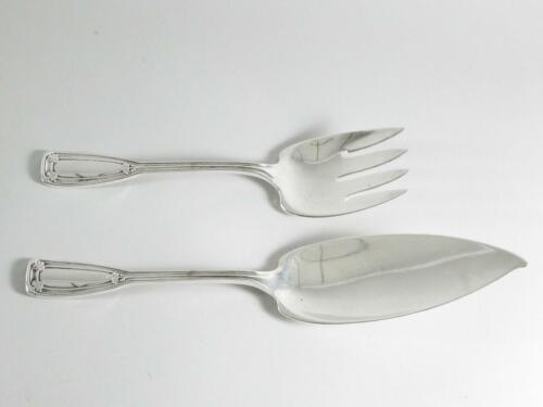 Tiffany & Co Sterling Silver St. Dunstan 2 Piece Large Solid Fish Serving Set