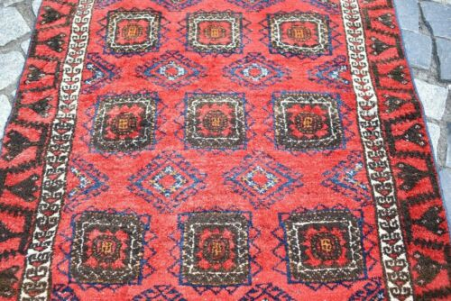 Fabulous Antique Rug 32'' x 56'' Turkoman Tribal Collectors Piece Distressed Rug
