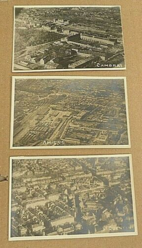 WW1 AIF  FRANCE 3 ARIEL PHOTOGRAPHIC POSTCARDS CAMBRAI, St QUENTIN , AMIENS 1914 - 1918 (WWI) - 13962