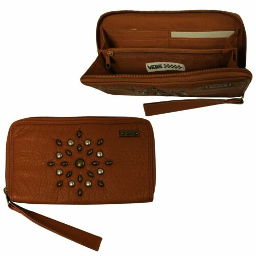 Vans Gypsy Wallet Womens Leather Purse Card Holder Brown VX5K6KY A23