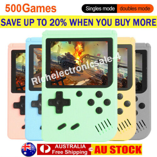 Built-in 500 Classic Games Handheld Retro Video FC Game Console Gameboy Gift AU