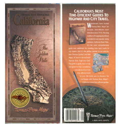 Vintage 1993 California Road Map – Office of Tourism – Version 2 ($2.95 Price)