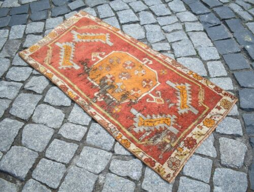 Marvelous Antique Rug Rare Awesome Collector's Piece Anatolian Mudjur Yastik Rug