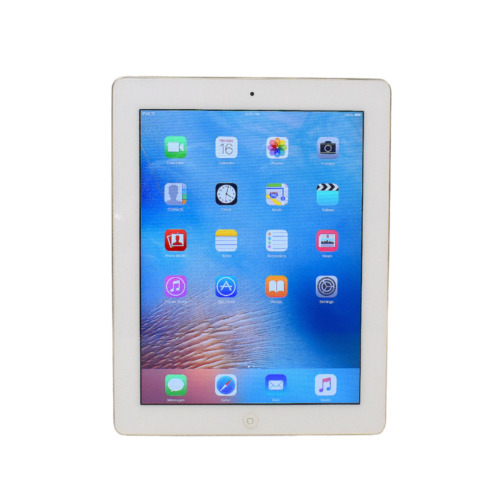 Apple iPad WiFi 2nd Gen 9.7 inch 16GB A1395 IOS9 White with Coloured Case