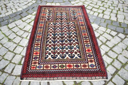 Fabulous Antique Tribal Rug 34'' x 53'' Awesome Collector's Piece Tribal  Rug
