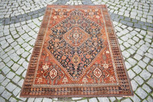 Masterpiece Antique Awesome Rug 4'1'' x 6'1'' ft Collector's Item Caucasian Rug