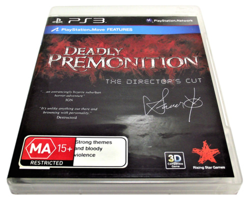 Deadly Premonition The Director's Cut Sony PS3