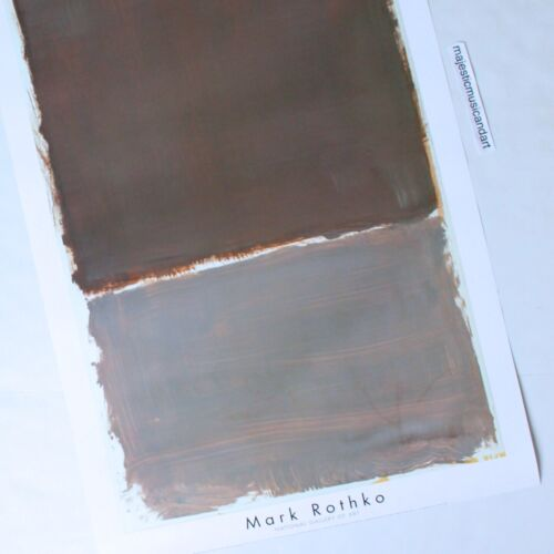 MARK ROTHKO MUTED COLORS 1998 GALLERY POSTER LARGE MINT