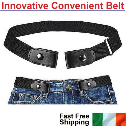 Buckle-Free Elastic Men`s Women's Invisible Belt for Jeans No Bulge Hassle