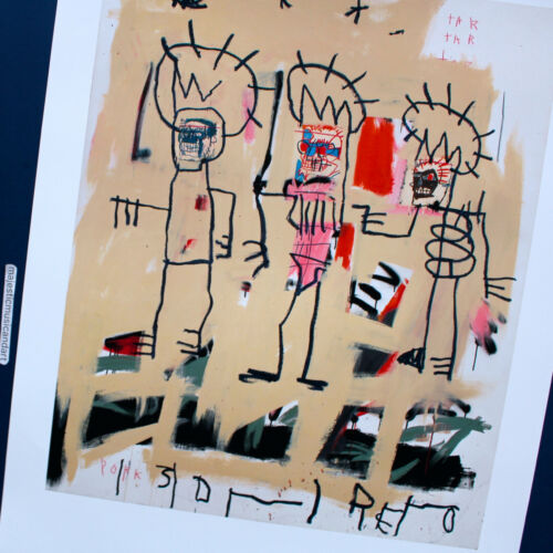 JEAN-MICHEL BASQUIAT THREE KINGS LITHOGRAPH POSTER