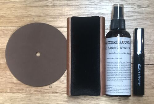 Accessory Record Vinyl LP Cleaning Kit BRUSH / STYLUS Cleaning Fluid Label Prote