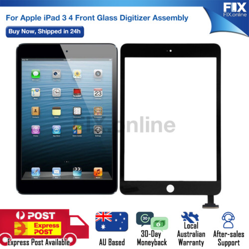 For iPad 3 4 3rd 4th Generation Front Glass Touch Screen Digitizer Replacement