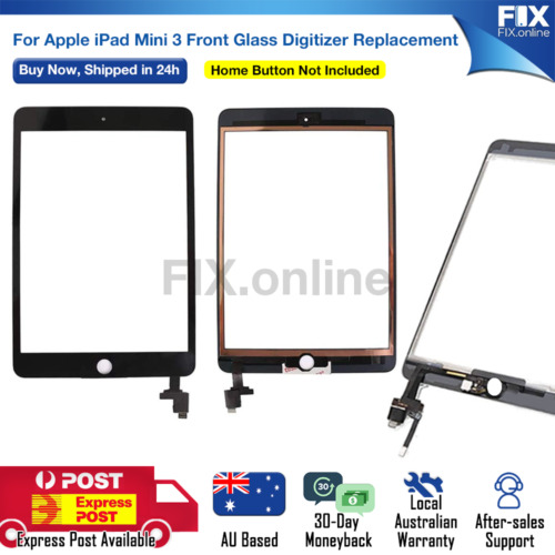 For iPad Mini 3 White Digitizer Front Glass Touch Screen Assembly Replacement AU