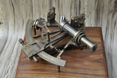 Sextant Captain Brass Big Vintage Antiques Marine 8 Inch Working Maritime Gift