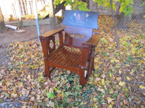 Antique Shop of the Crafter Rare Armchair   w4427 (Stickley Era)