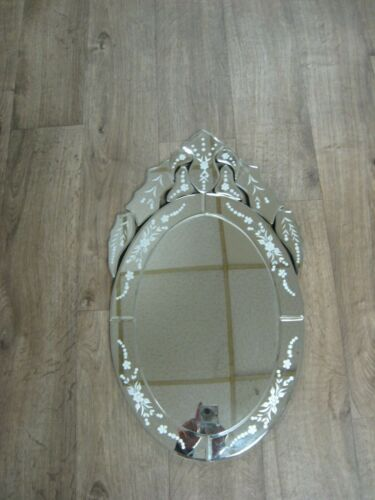 "Victorian Art Deco inspired wall mirror vanity mirror 23.5"" TALL X 13.75"" WIDE"