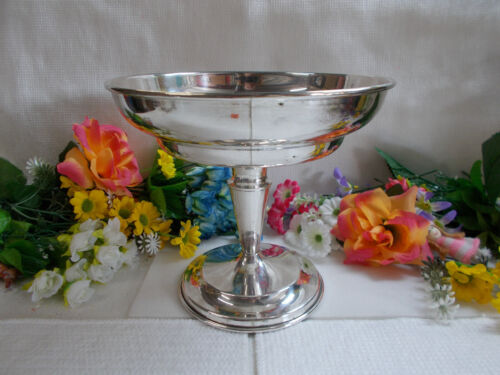 LOVELY SILVER COMPORT - EP/A1/NS - 18 cm HIGH X 20 1/4 cm WIDE - VGC # 807