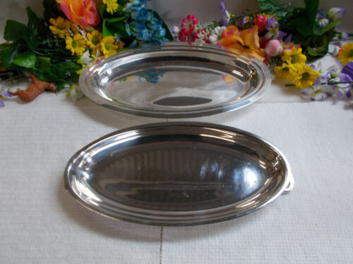 LOVELY SILVER GOLDCRAFT E.P.N.S A1 TRAY WITH LID - 31 cm Long - GC # 791