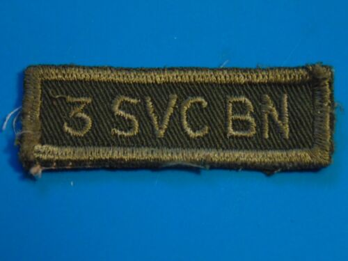 Canada Canadian Armed Forces 3 Svc Bn Third Service Battalion Od Shoulder Title