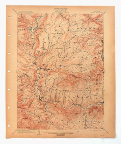 Gilboa Windham North Blenheim New York Antique USGS Topo Map 1903 Topographical