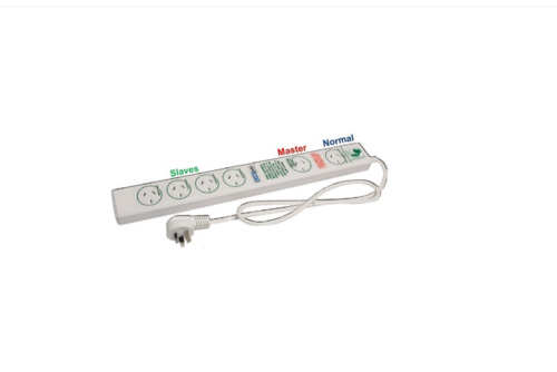 6 OUTLET ENERGY SAVING POWER BOARD- SURGE & OVERLOAD PROTECTION - JACKSON- NEW