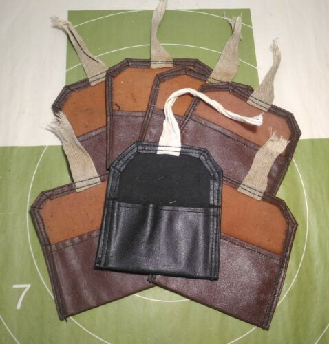 lot of 7 pcs Soviet army Mosin Nagant artificial leather pouch for cleaning kit