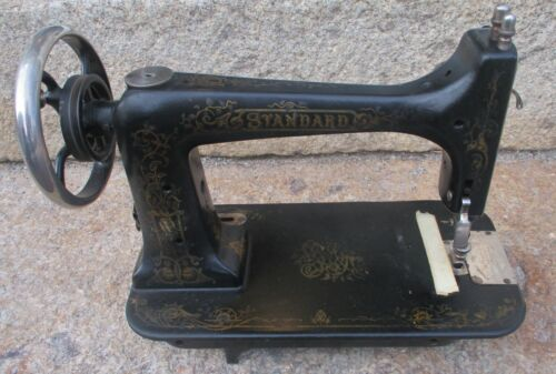 STANDARD SEWING MACHINE CO. HEAD for TREADLE BASE ANTIQUE CAST IRON