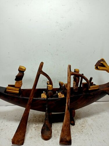 RARE ANTIQUE ANCIENT EGYPTIAN Wooden Funeral Boat Flight Tour Univese 2470 Bc
