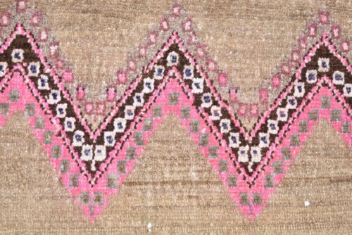 Rare Pink Color Rug 30'' x 19'' Anatolian Kilim Hand-Knotted Small Doormat Rug