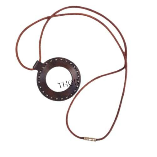 Nautical  Leather Strap Necklace Magnifying Glass  Locket Magnifier Set OF 2