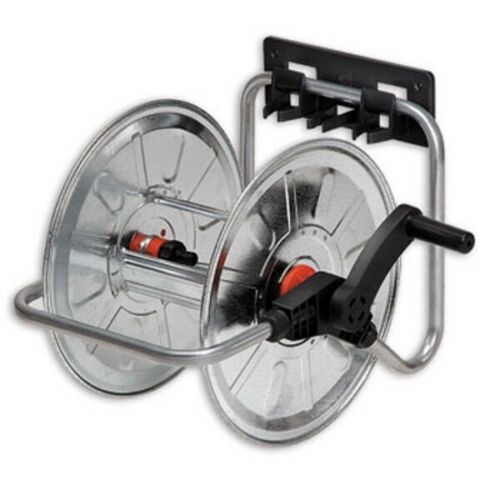 Wall Hose Reel 50m 1/2 Inch Stationary And Portable Galvanised Wandschlauchhal