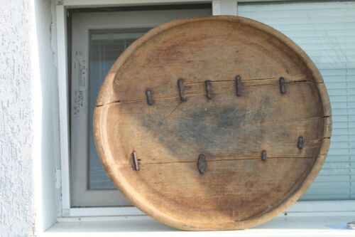 Vintage Wooden Round Primitive Kitchen Dining Table Food 19C Whole Tree