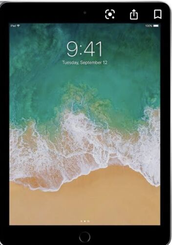 Apple iPad 5th Gen. 128GB, Wi-Fi + Cellular (Unlocked), 9.7in. Space grey.