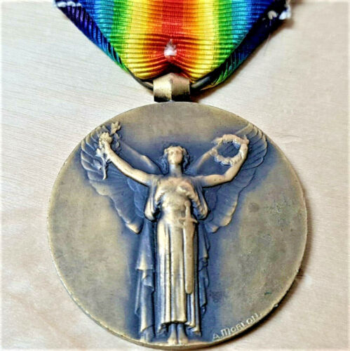 VINTAGE WW1 FRENCH INTERALLIED VICTORY MEDAL BY MORLON 1914-19181914 - 1918 (WWI) - 13962
