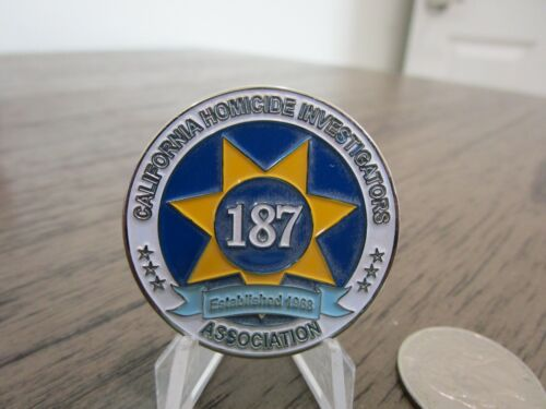 Police California Homicide Investigators Association Old Smokey Challenge Coin Challenge Coins - 74710