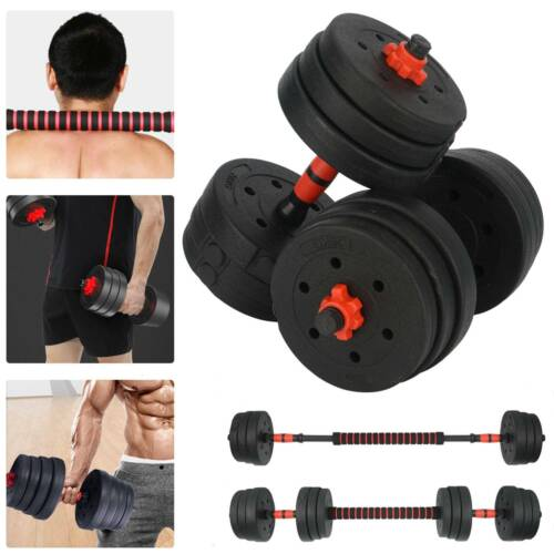 Vinyle 20Kg Haltère Fitness dumbbell exercise Home Gym Biceps Poid Entrainement.