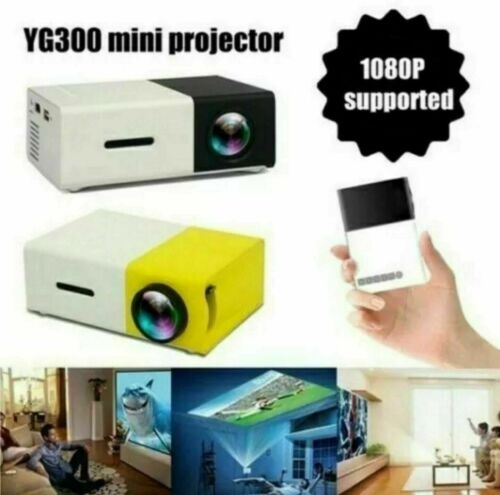 PROIETTORE PORTATILE HD LED MINI VIDEOPROIETTORE HOME CINEMA TV VGA/USB/SD/AV