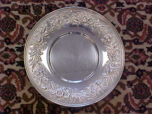 "S.Kirk and Sons Sterling Silver 10 "" Serving Platter Tray REPOUSSE 14.5 TROY OZS"
