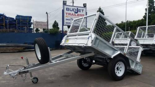 7x4 Galvanized Box Trailer $1550.00 (TRAILER ONLY CAGE EXTRA)