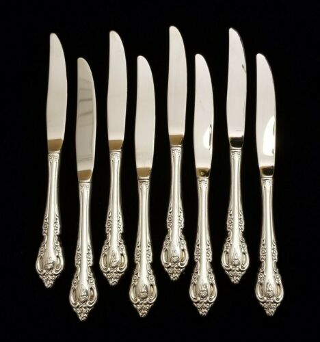 Oneida BRAHMS SILVERPLATE 8 Dinner Knives ~ 9'' ~ EXCELLENT