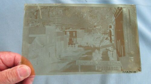 1890's Georgetown Colo. Parade Glass Plate Photo Negative-Bank Of Georgetown