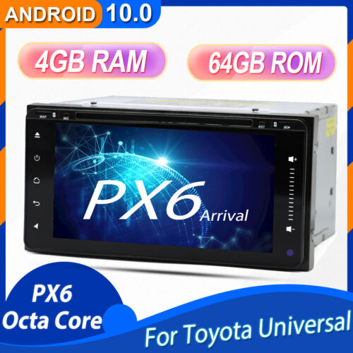 4GB 64GB Android 10.0 Car DVD Radio Stereo GPS Navi Player Head Unit for Toyota