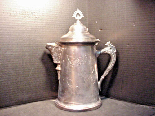 Antique Oneida Quadruple Silver Plate Victorian Tankard Pitcher Jug Large Size
